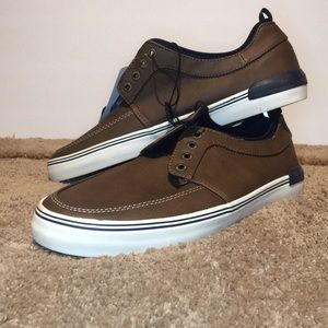 Goodfellow brown Bernie slip on sneakers no laces